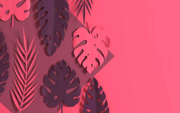 Тропические бумажные пальмовые листья