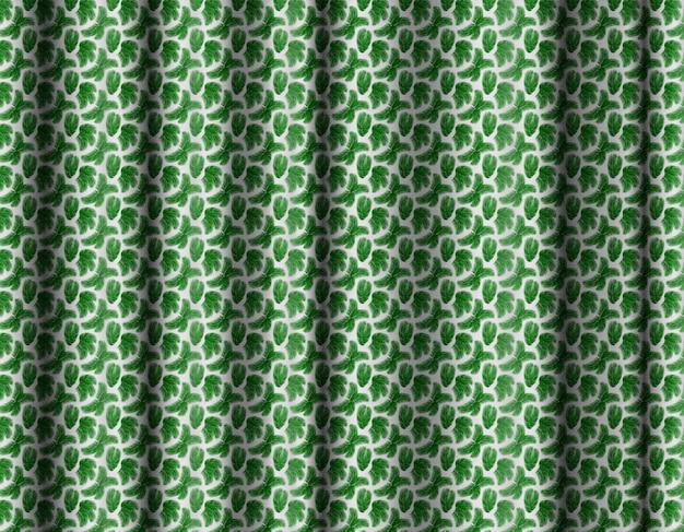 Tropical patterned 3d curtain background.