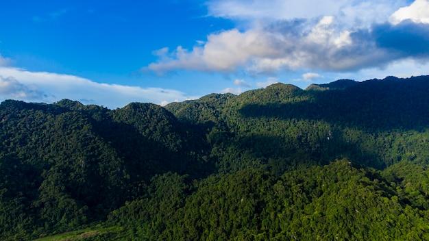 アチェの熱帯雨林の山々