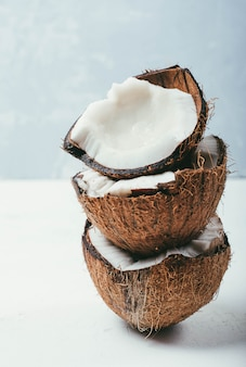 Tropical summer coconut
