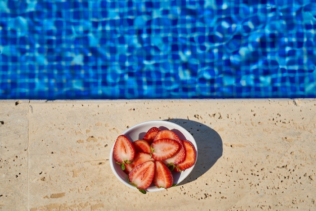 A tropical summer vacation and delicious snacks