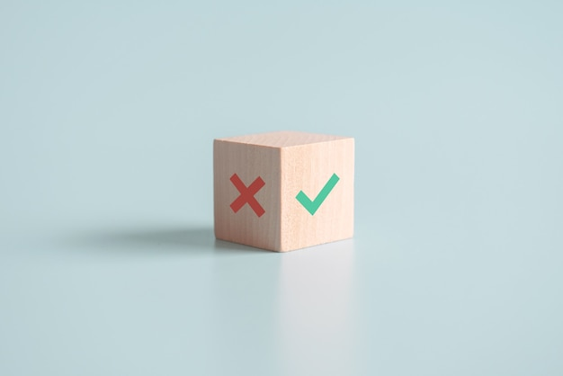True and false symbols accept rejected for evaluation