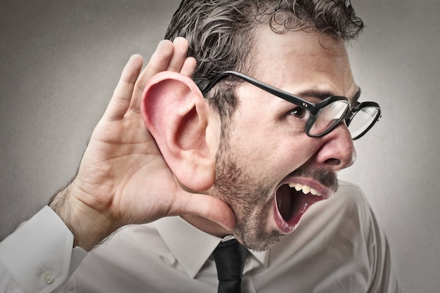 Trying to hear something