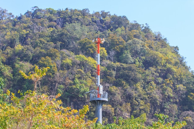Tsunami siren warning loudspeakers