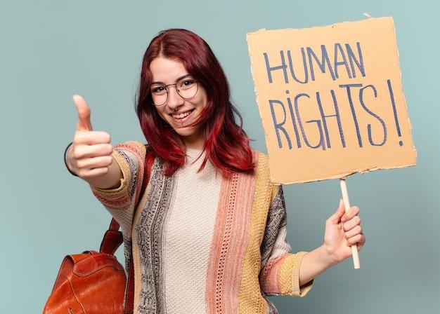 Студентка-активистка tty