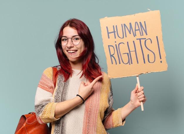 Tty 学生活動家の女性