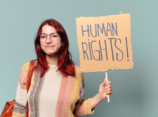Ttyの学生活動家の女性