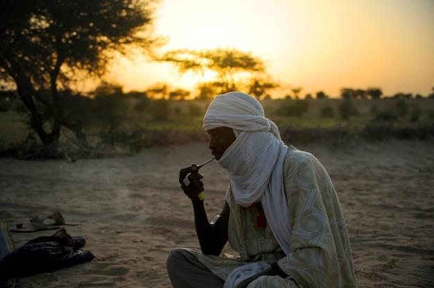 Туарег в пустыне