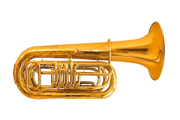 Tuba isolated on white