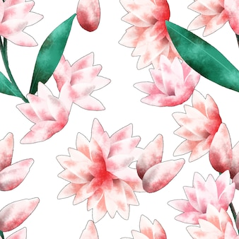 Tuberose flower seamless pattern