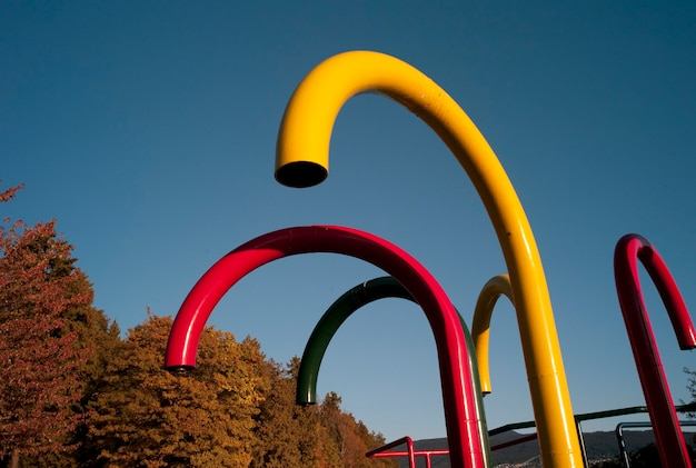 Tubes in the stanley park play area in vancouver, british columbia, canada