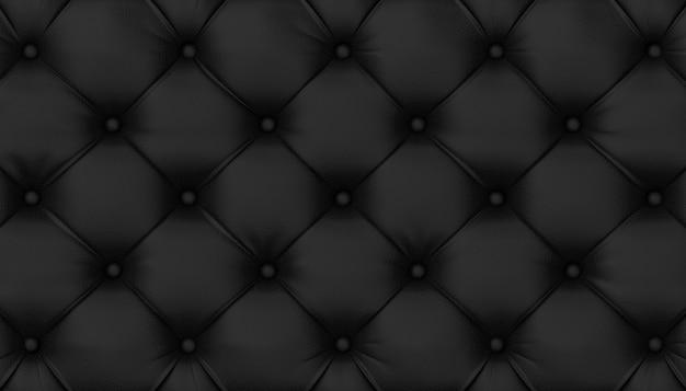 房状の黒い革の背景。 3dレンダリング