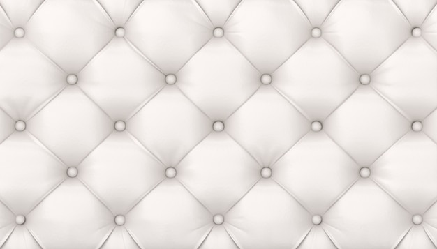 Tufted white leather background. 3d render Premium Photo