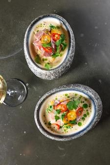 Tuna ceviche in ponzu sauce