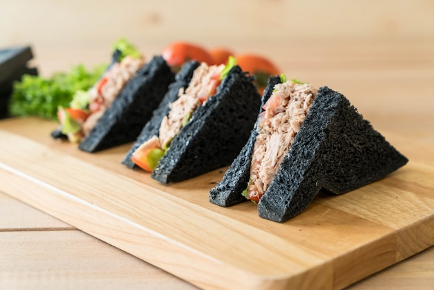 Tuna charcoal  sandwich