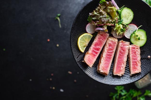 Тунец на гриле морепродукты жареные барбекю гриль рыба барбекю здоровое питание