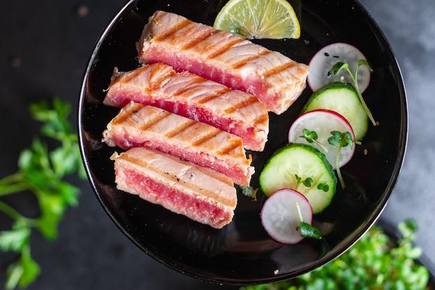 マグロ焼きシーフード揚げバーベキューグリル魚バーベキュー健康的な食事