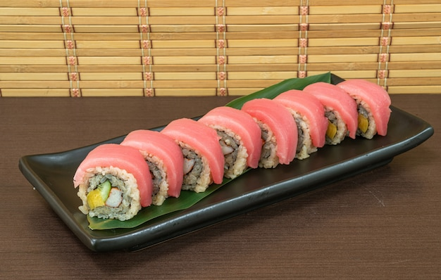 Tuna sushi roll - japanese food