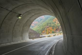 Tunnel near Kawaguchiko lake Japan