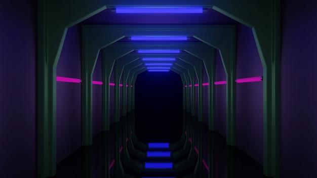 トンネル、ネオンライト、ピンクライト、ライトブルー、グリーンライト、プレミアムルックがカバーデザインに使用できます。アイデアを促進するために使用できます