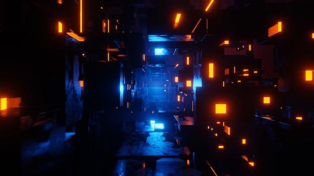 トンネルscifiループ環境テクノロジーデジタル抽象的な背景