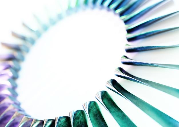 터빈 블레이드 산업 개요 흰색 배경에 고립입니다. 3d 렌더링.