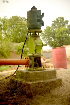 Turbine pump, field irrigation system in pakpattan district, punjab, pakistan