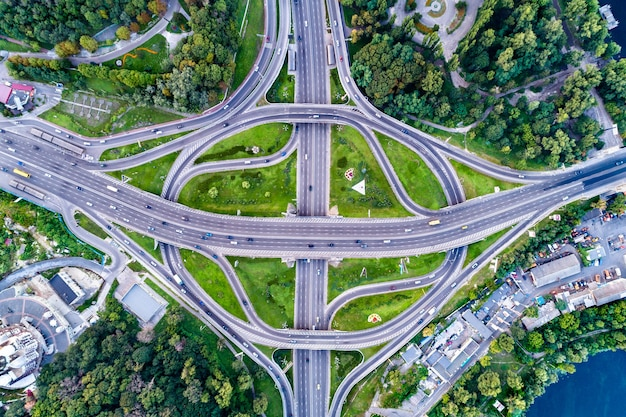 Turbine traffic interchange in kiev, the capital of ukraine