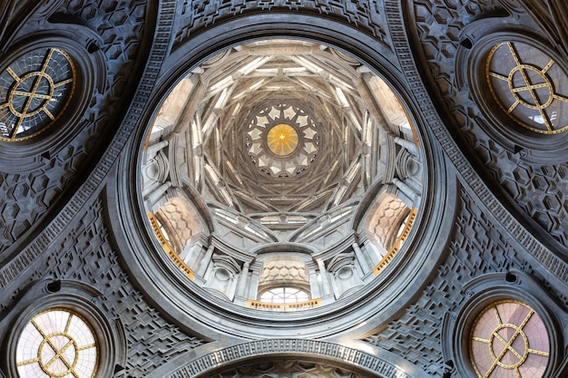 Turin, italy - circa august 2021: the chapel of the shroud, 1694 by guarini. one of the most important holy locations for christian religion