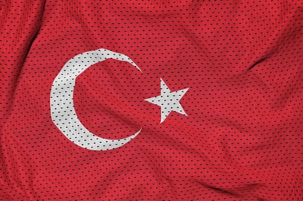 Turkey flag printed on a polyester nylon mesh