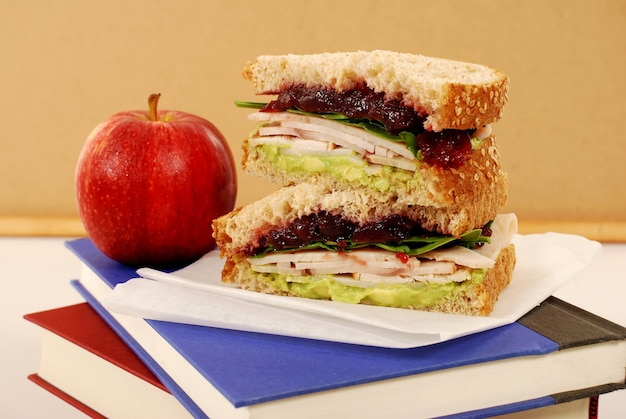 Turkey and jam sandwich to recharge the batteries