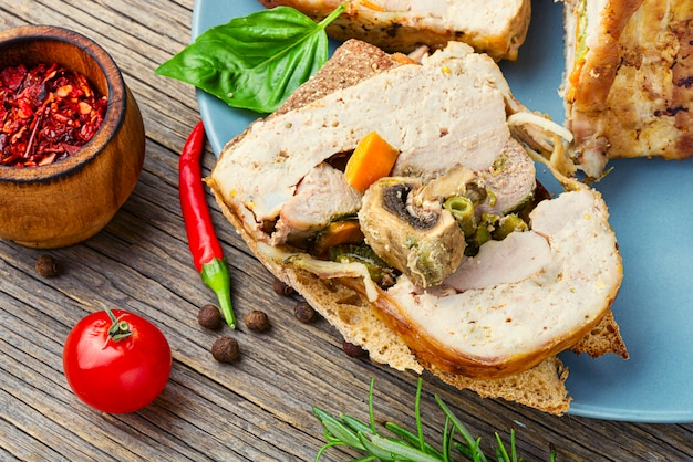 Turkey meat terrine