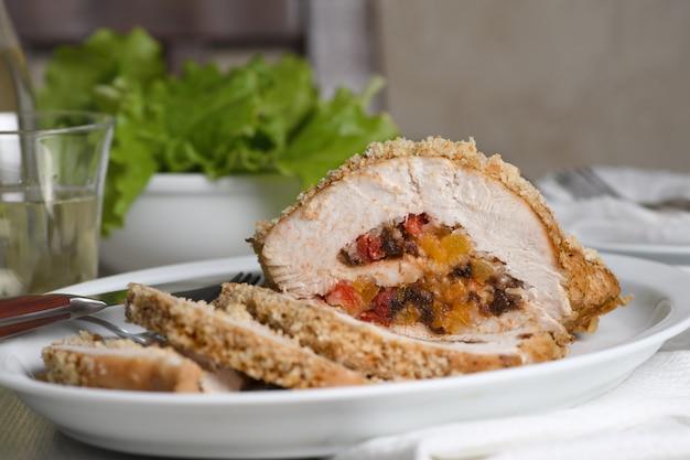 Turkey stuffed with dried fruit