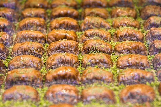 Turkish balkava with pistachio