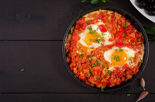 Turkish breakfast -  shakshuka.