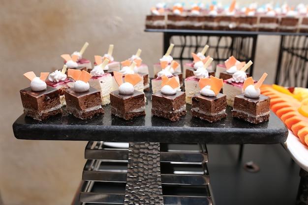 Turkish dessert on black board
