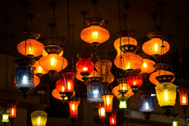 Turkish lamps in arabic style