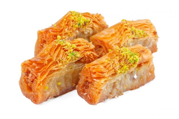 Turkish ramadan dessert baklava isolated