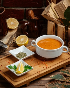 Turkish soup with spices