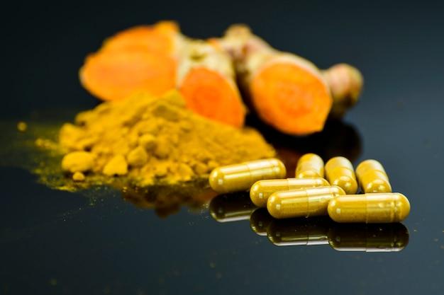 Turmeric (curcuma longa l.) root and turmeric powder for alternative medicine, spa products and food ingredient.