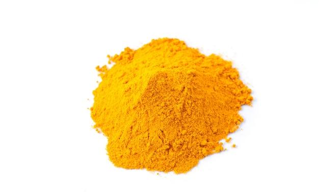 Turmeric or curcuma powder isolated on white background