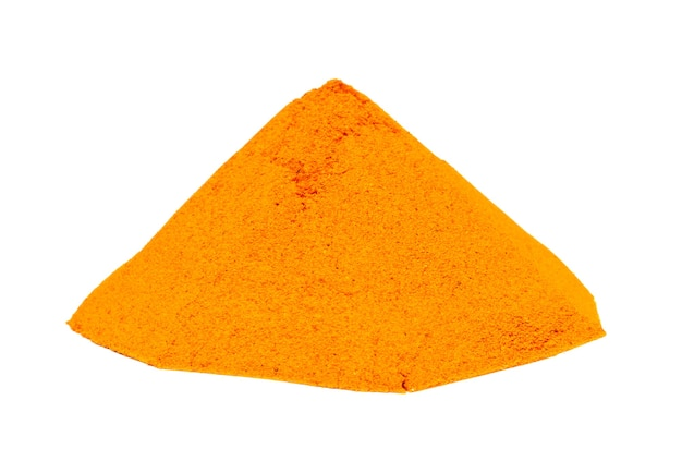 Turmeric- curry  powder on white background