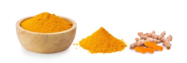 Turmeric isolated on white surface