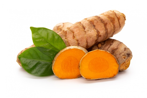 Turmeric isolated on white