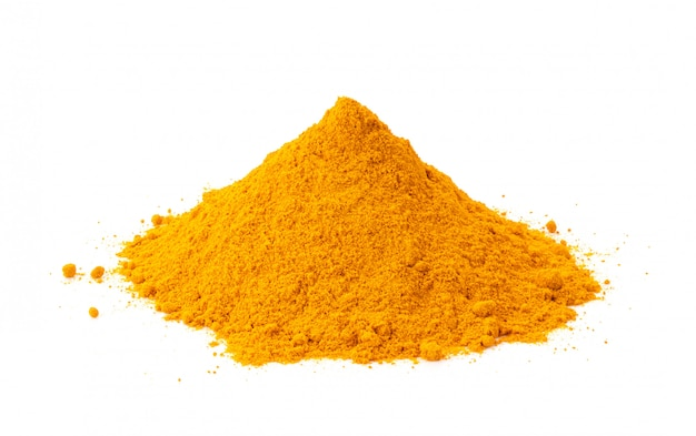 Turmeric powder isolated on white
