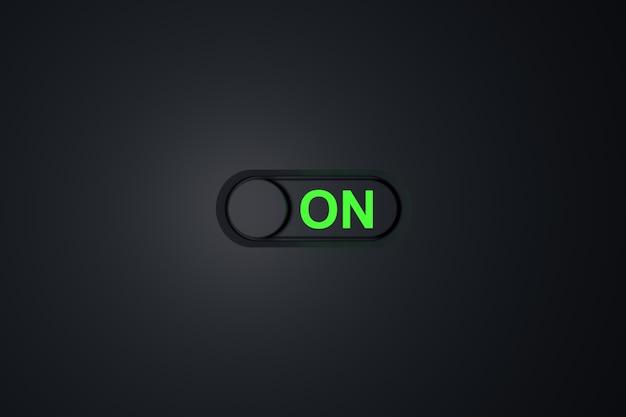 Включите выключатель. 3d-рендеринг.