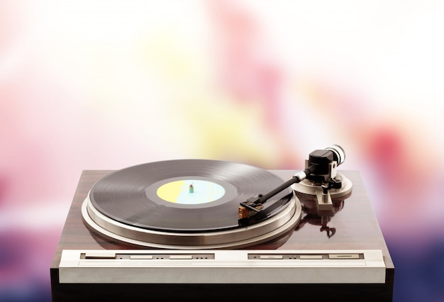 Turntable on psichedelic