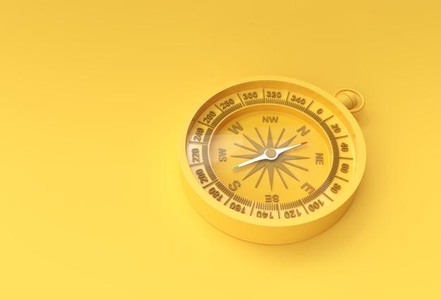 Бирюзовый компас 3d визуализации иллюстрации.