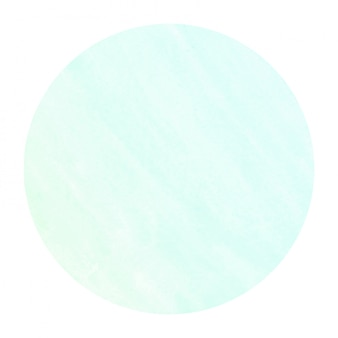 Turquoise hand drawn watercolor circular frame background texture with stains