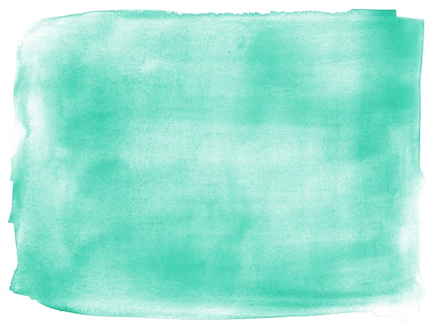 Turquoise hand painted abstract background